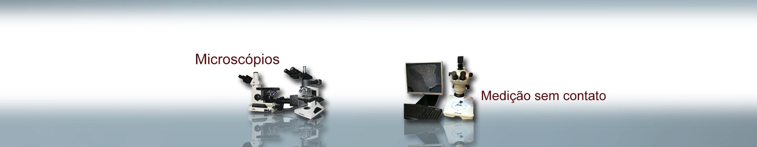 microscópio medição