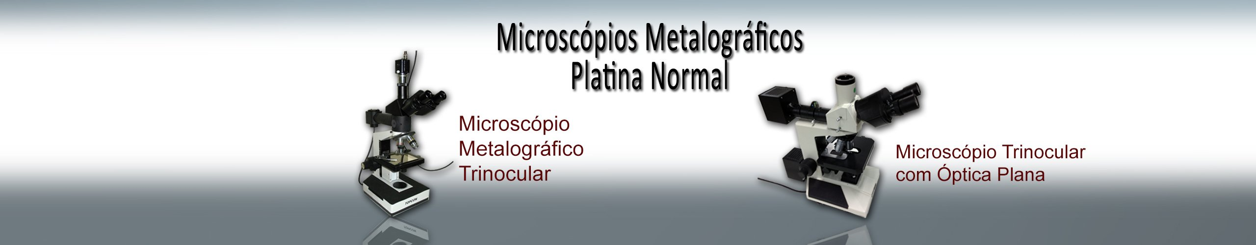 microscópio platina normal